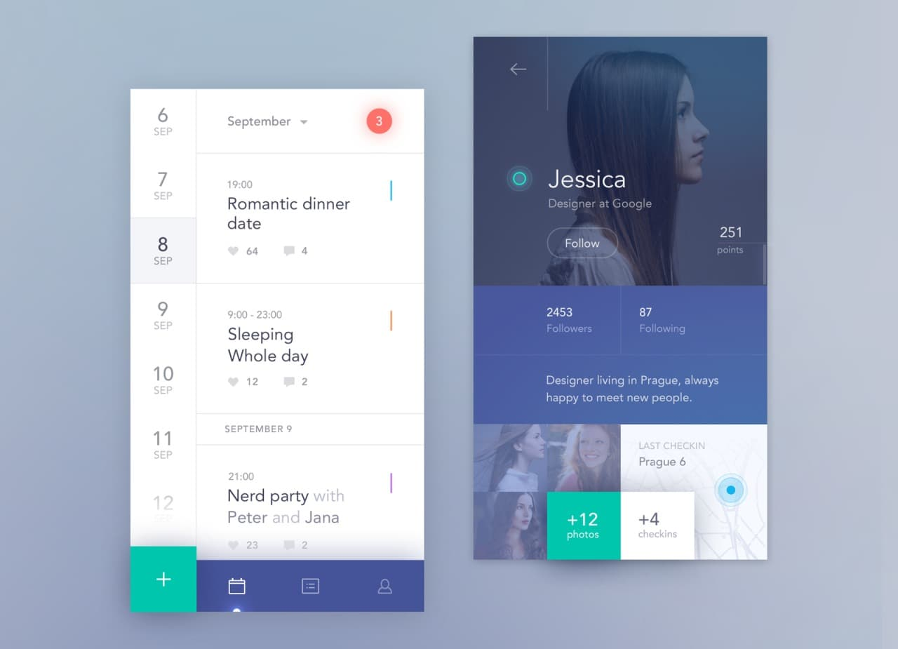 Calendar app by Antalik from UIGarage