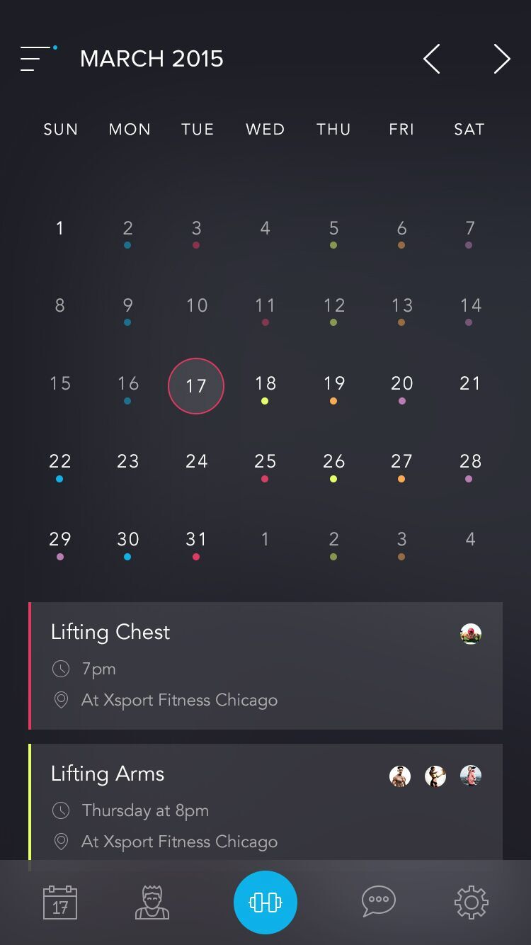 Beautiful calendar app by Austinappy from UIGarage