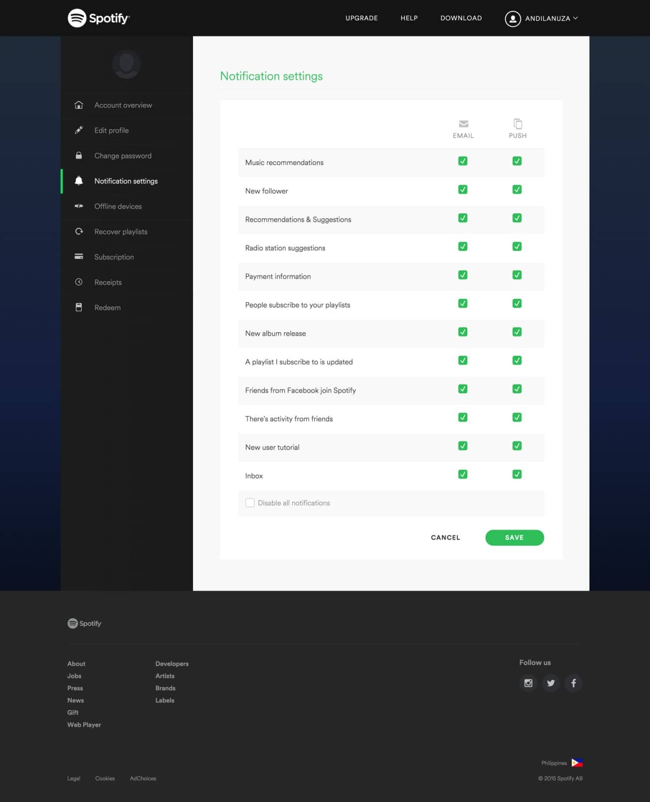 Checkbox by Spotify from UIGarage