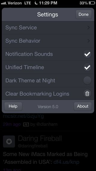 Checkbox on iOS by Twitterrific from UIGarage
