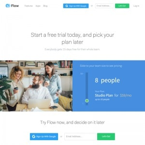 Pricing page by Flow from UIGarage