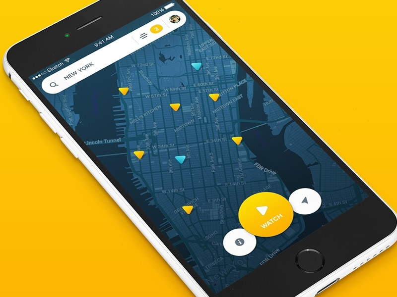 Map inspiration by Aurelien Salomon from UIGarage