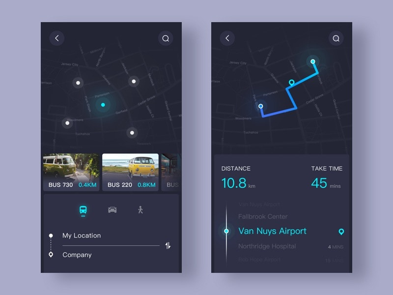 Map navigation by Ui Star from UIGarage