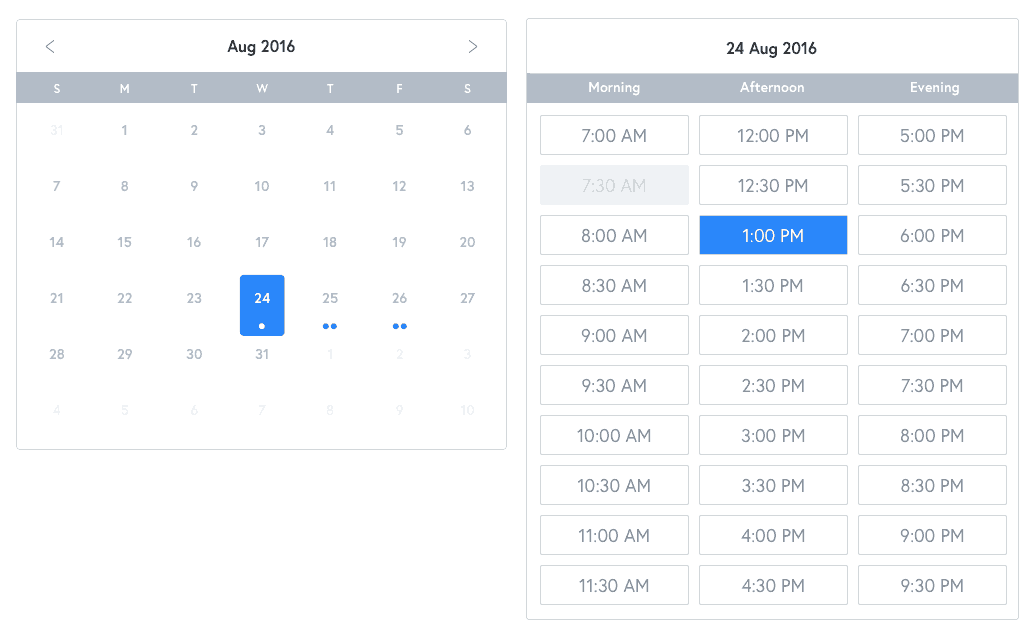 Date picker by Snappr