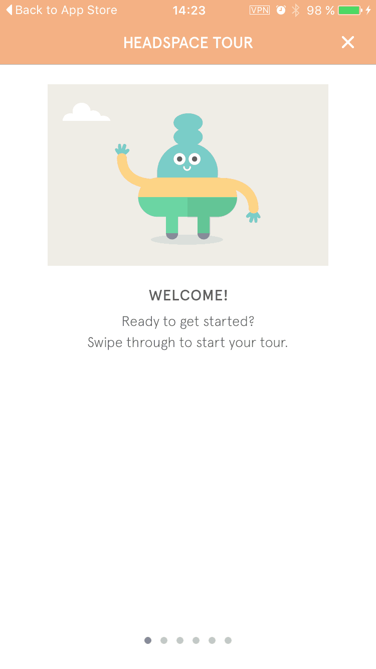 Walkthrough on iOS by Headspace
