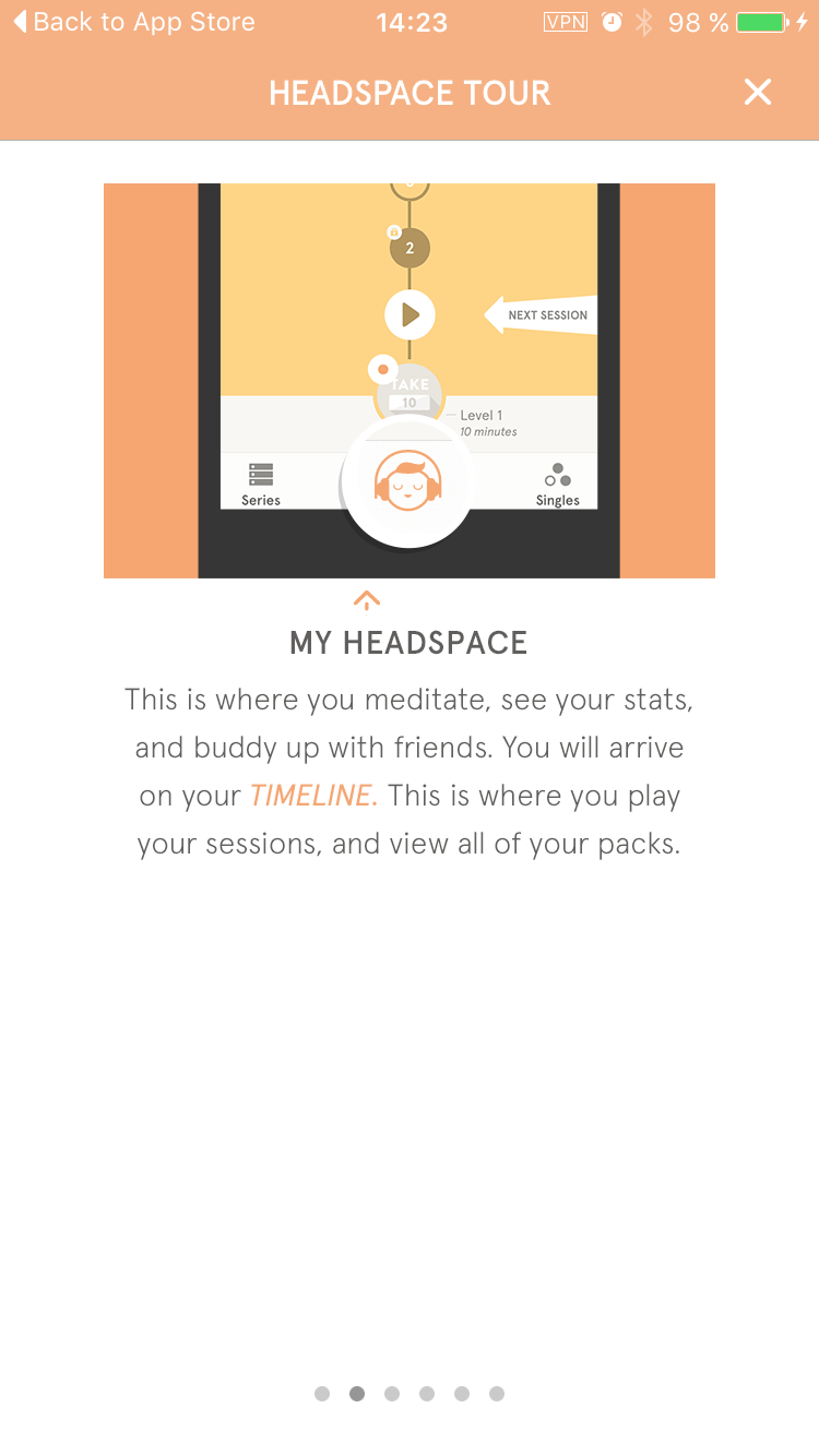 Walkthrough on iOS by Headspace from UIGarage