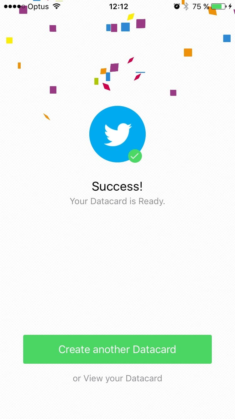 Congrats screen on iOS by databox