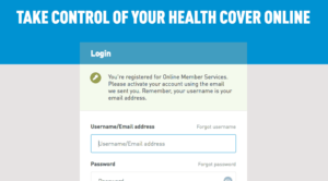 Login alert by Medibank from UIGarage
