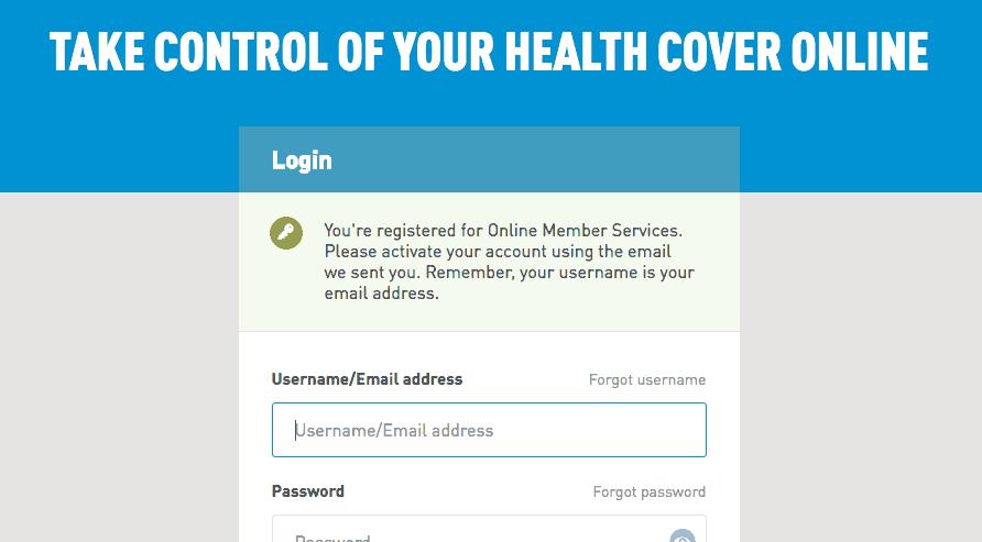 Login alert by Medibank from UIGarage