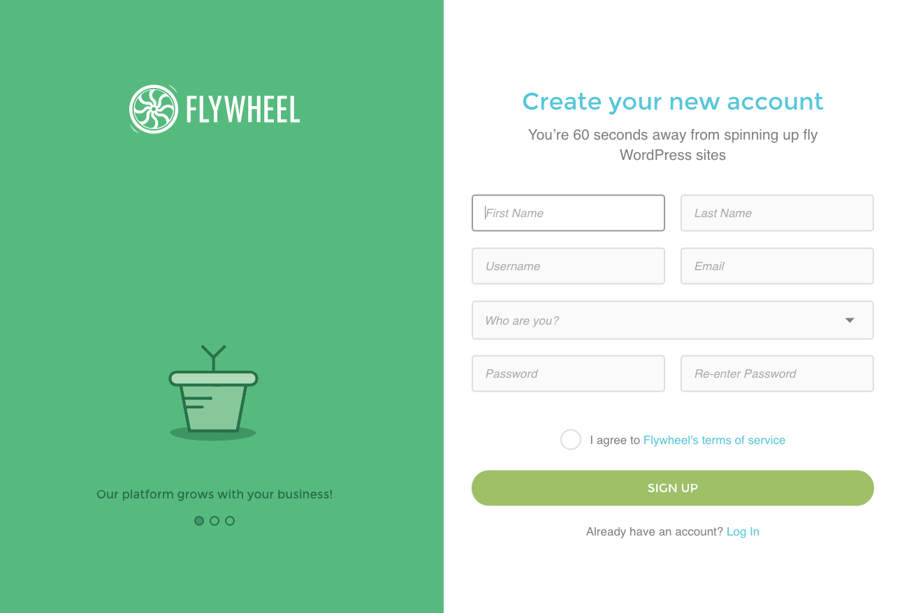 Sign upon iOS by Flywheel