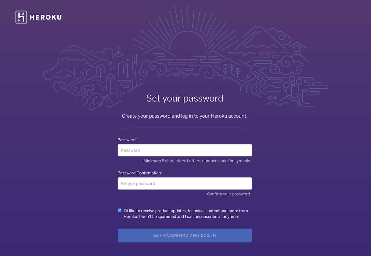Sign up Process by Heroku from UIGarage