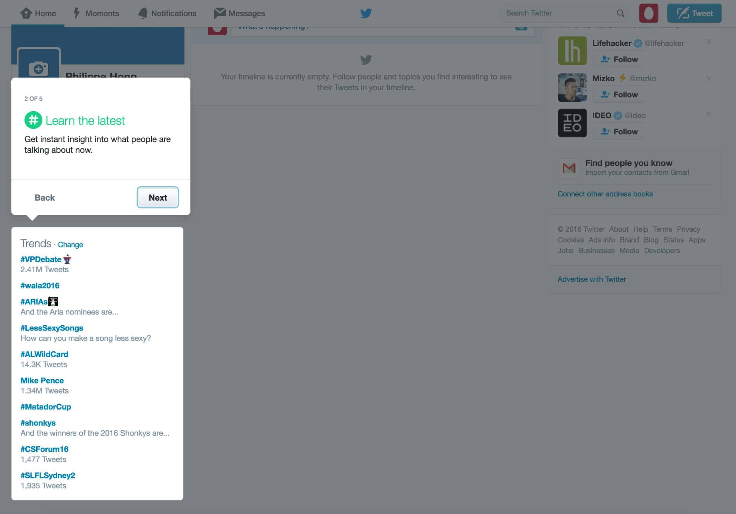 Tutorial walkthrough by Twitter from UIGarage