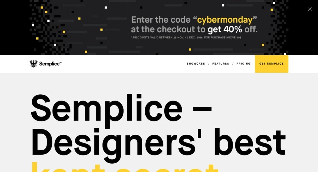 Advertising by Semplice from UIGarage