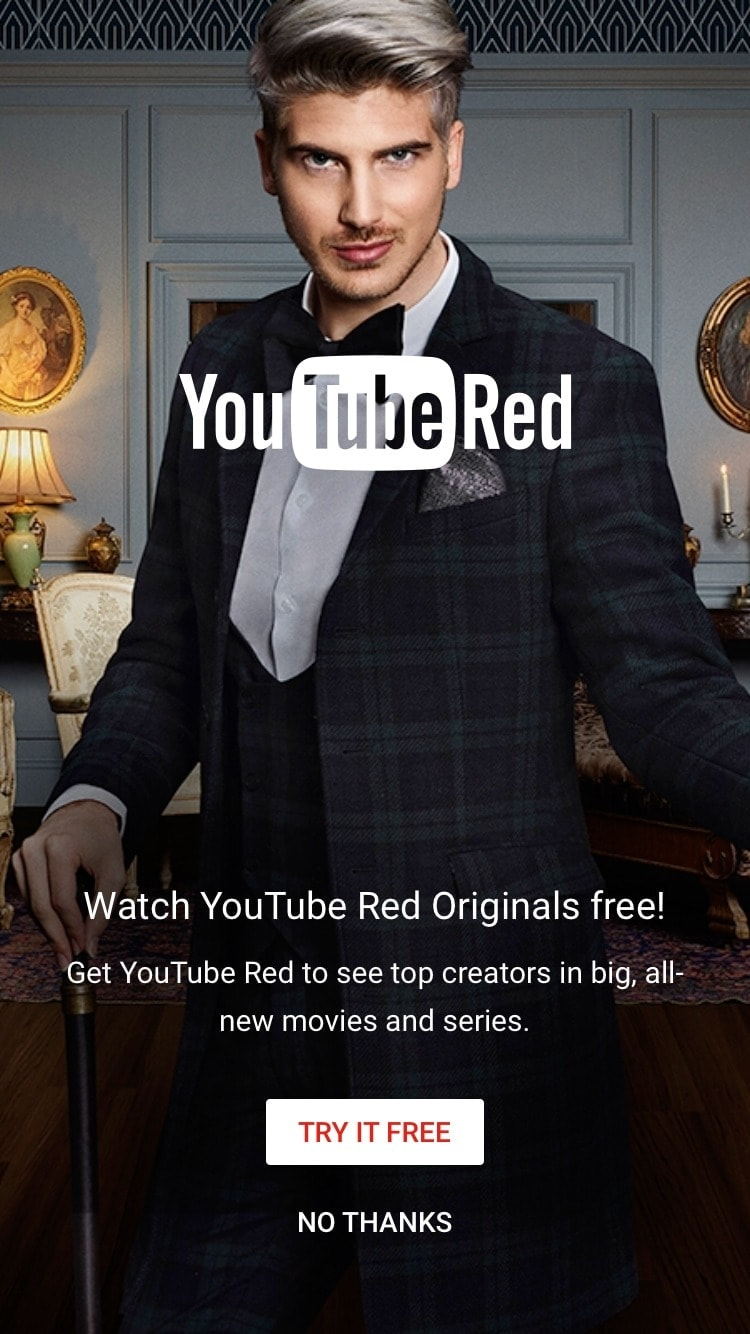 Advertising on iOS by Youtube