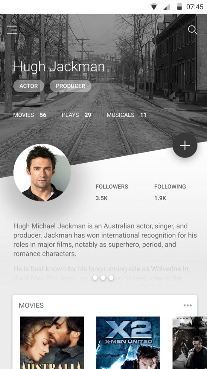 User Profile Inspiration