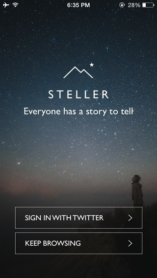Signup by Steller from UIGarage