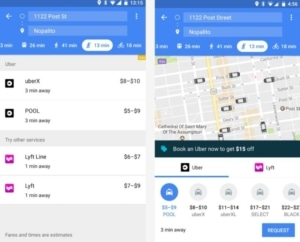 Uber/Lyft on Google Maps from UIGarage