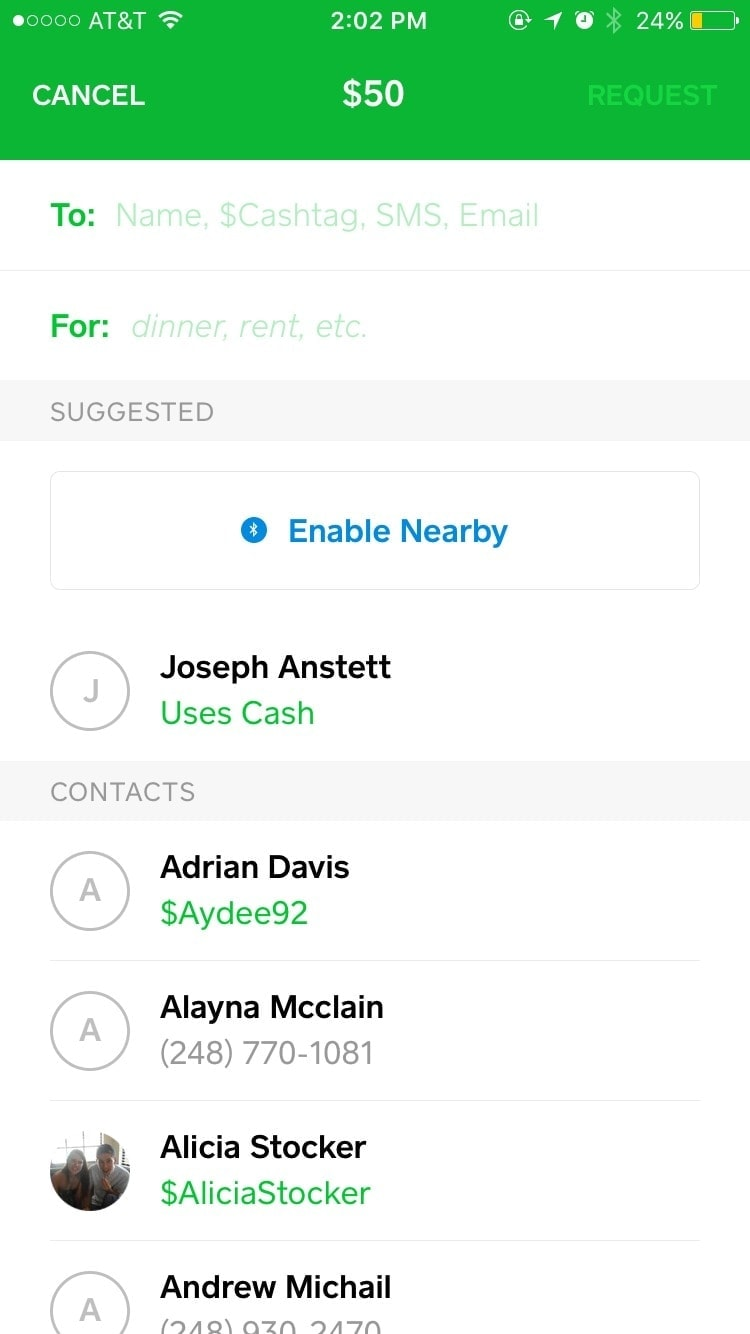User Profile on iOS by Square Cash from UIGarage