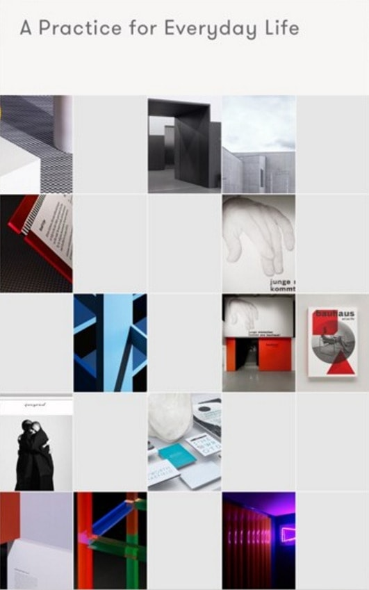 Layout Inspiration by Curator App from UIGarage