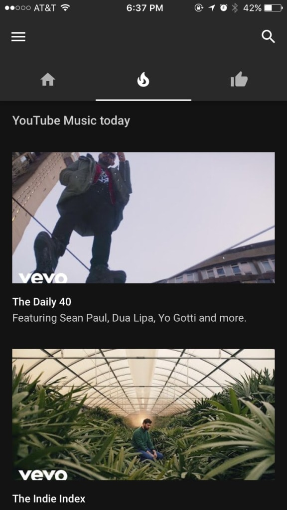 Walkthrough on iOS by YouTube Music from UIGarage
