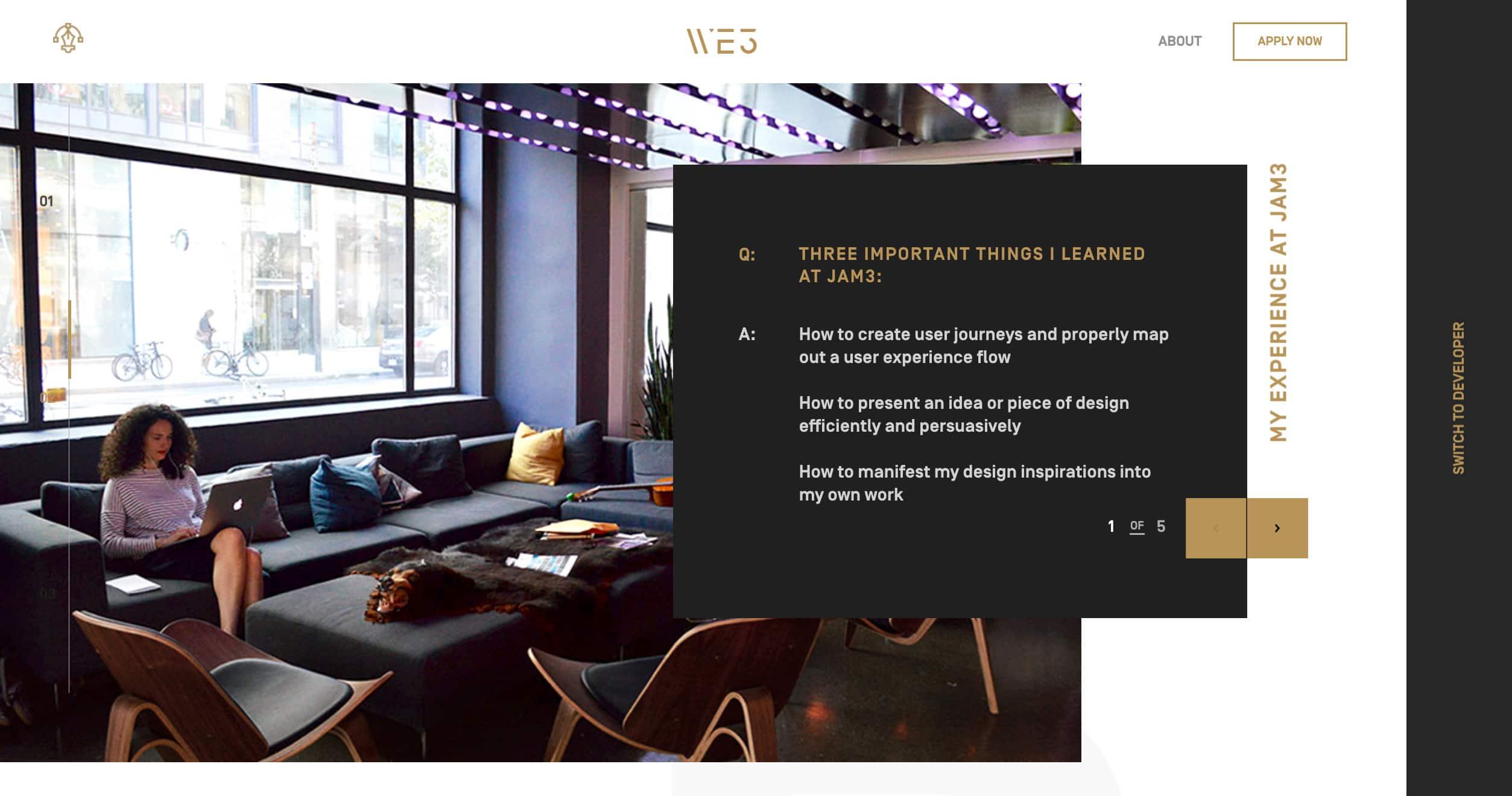 Intern Website by Jam3 from UIGarage