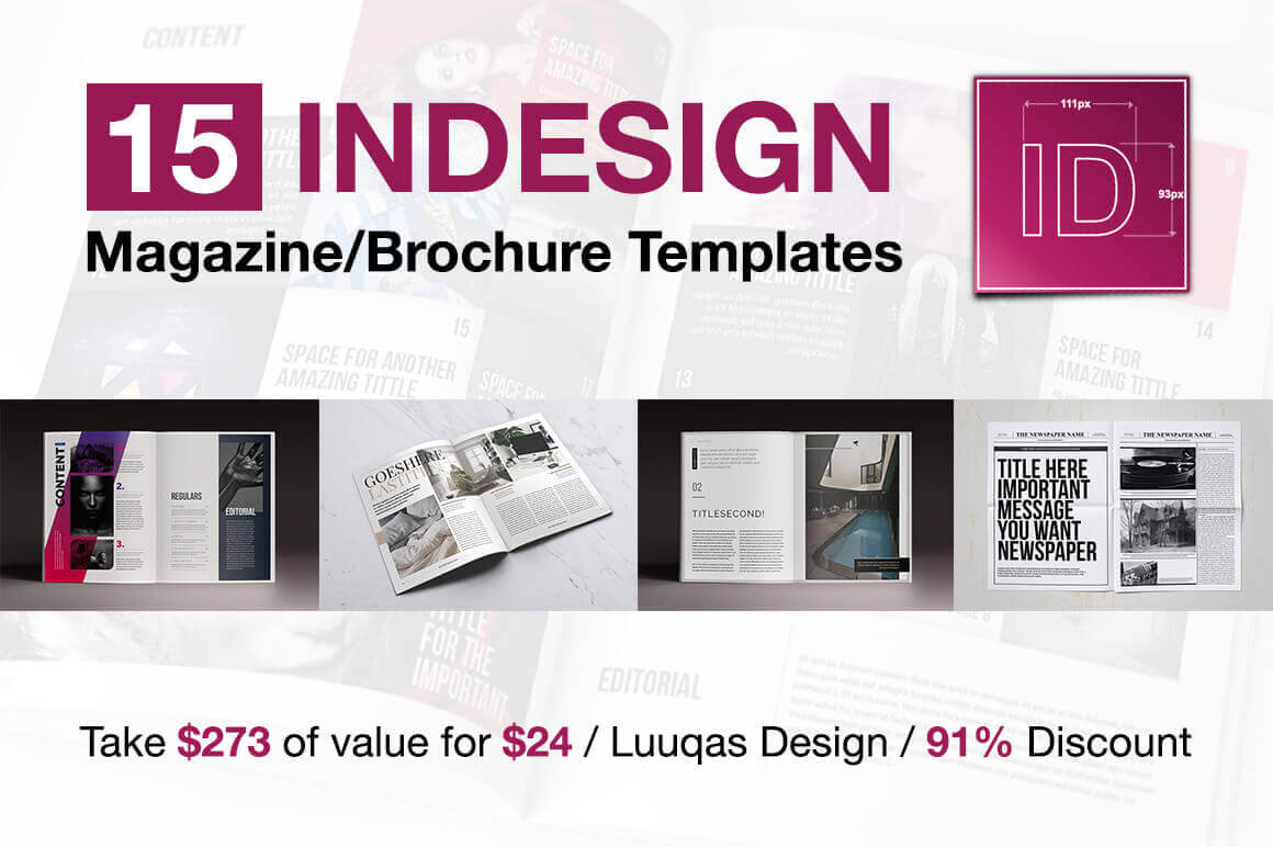 15 InDesign Magazine & Brochure Templates from UIGarage