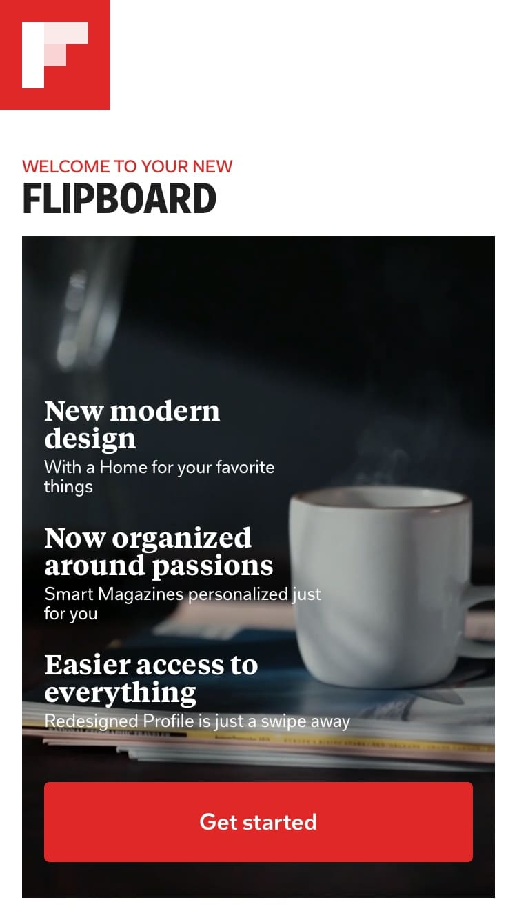 Launch Screen by Flipboard from UIGarage