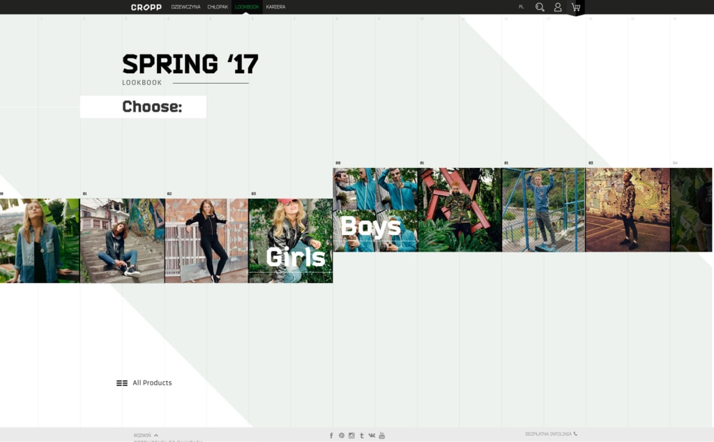 Website Grid Inspiration by Cropp from UIGarage
