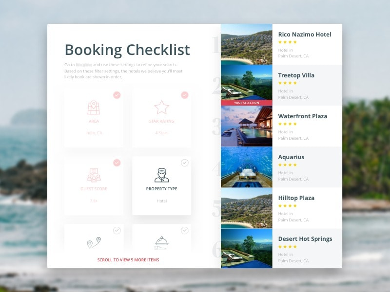 Hotel Place Picker Inspiration