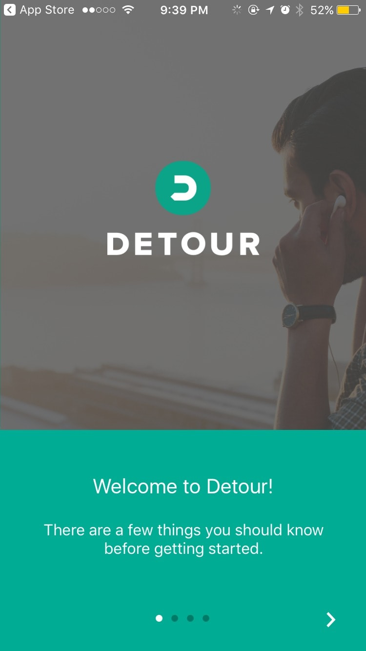 Walkthrough on iOS by Detour from UIGarage