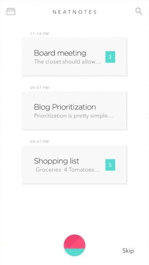 List Inspiration by NeatNotes from UIGarage