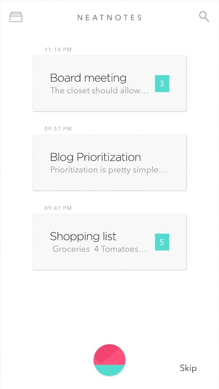 List Inspiration by NeatNotes