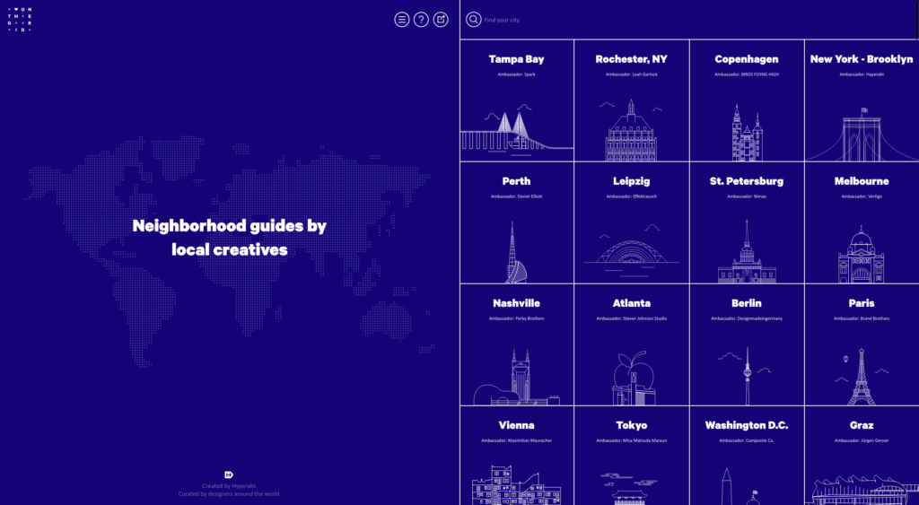 Web Inspiration by On The Grid City from UIGarage