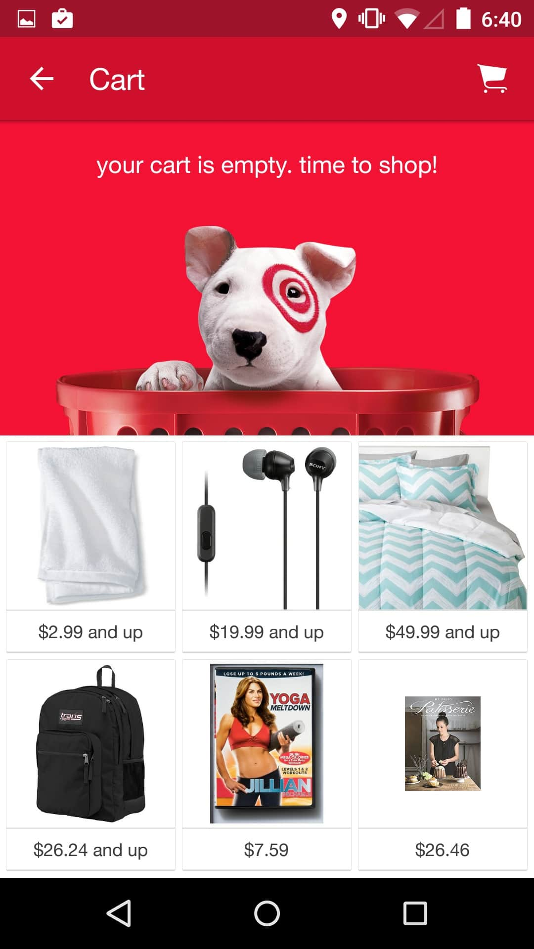 Categories by Target