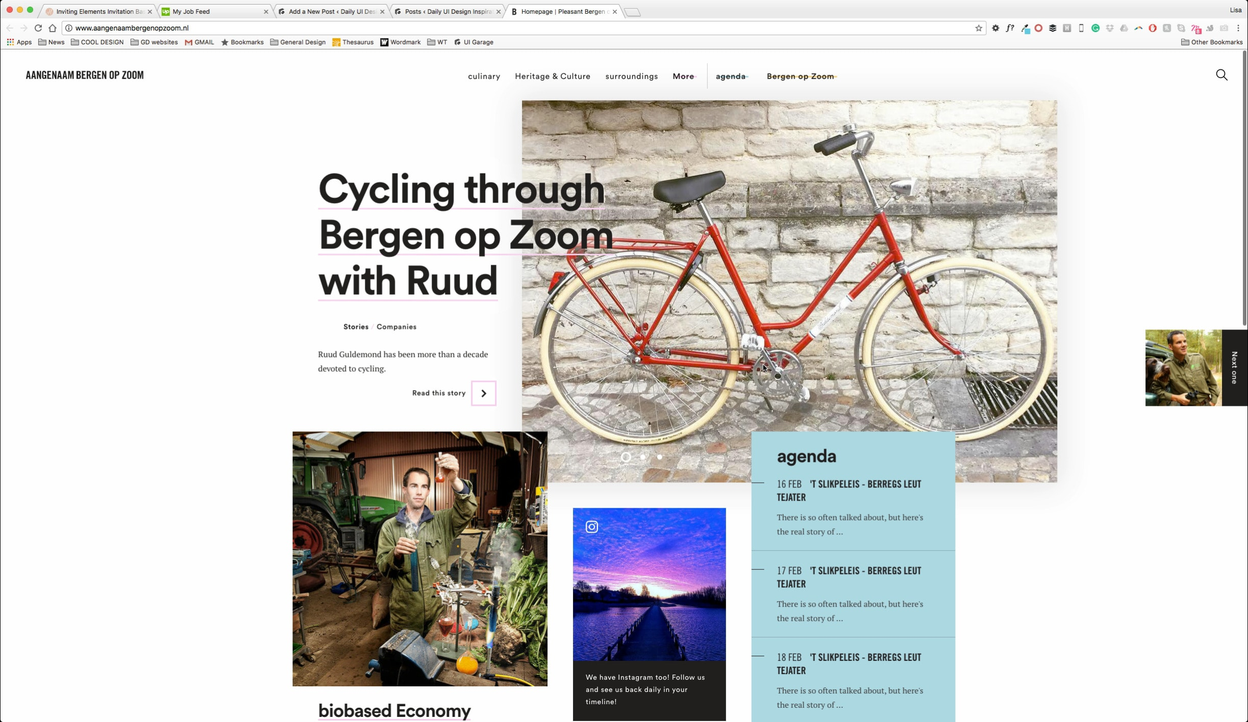 Website Unusual Layout from UIGarage