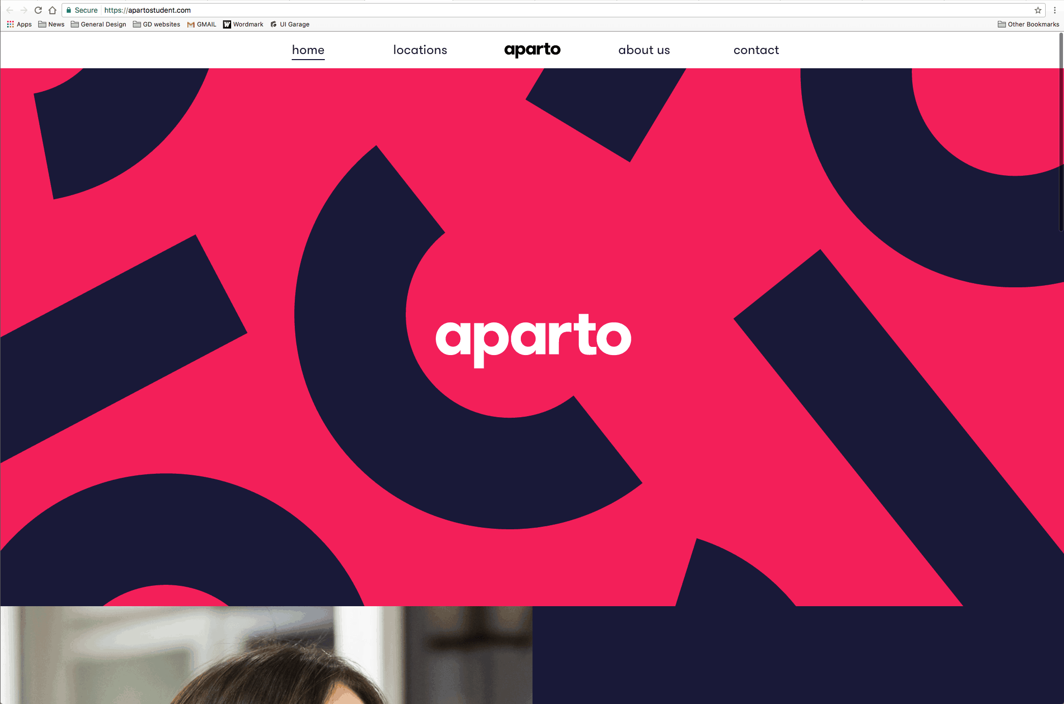 Web Inspiration by Aparto