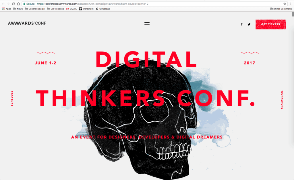 Homepage by Awwwards Digital Thinkers Conference from UIGarage
