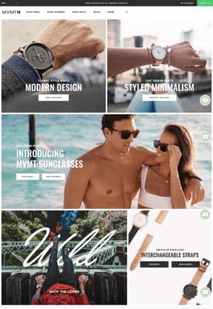 MVMT, Website, Homepage, Grid, Gallery, E-Commerce