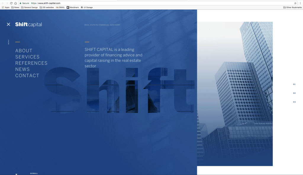 Menu by Shift Capital from UIGarage