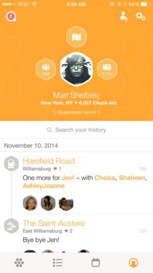 User Profile on iOS by Swarm from UIGarage