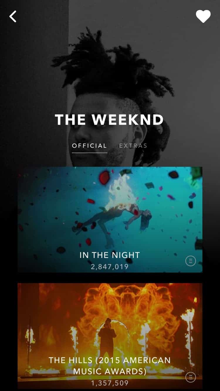 Music Player on iOS by Vevo from UIGarage
