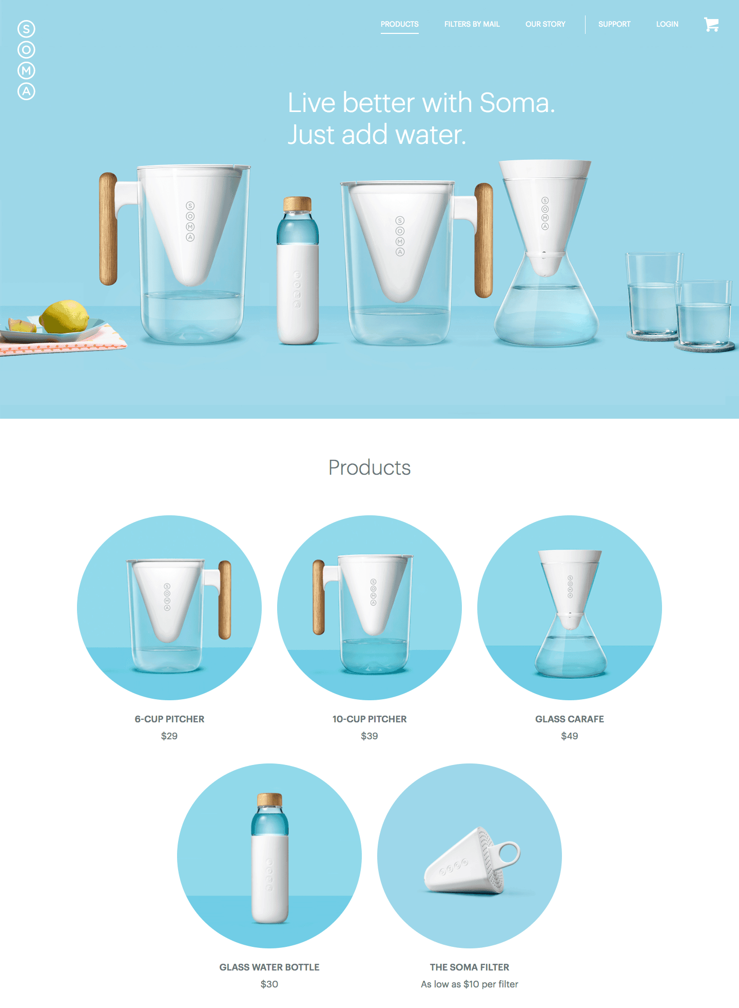 Homepage by Soma
