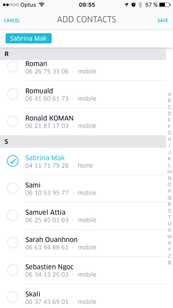 User/Contact Picker by Uber from UIGarage