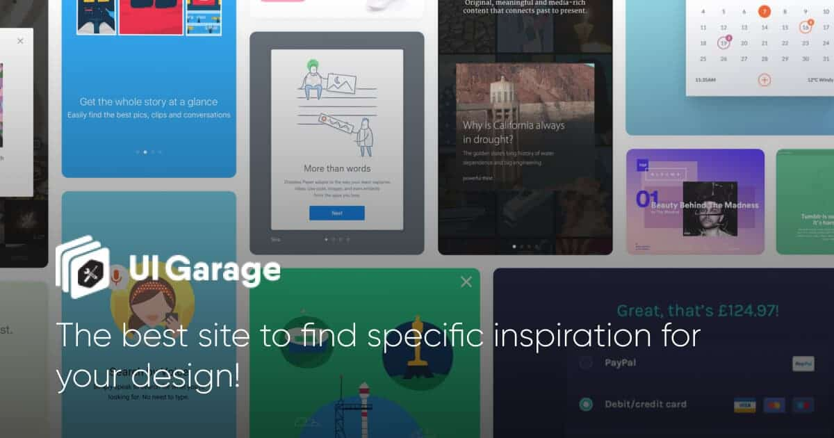 UI Garage - Daily UI Inspiration & Patterns for Web, Mobile