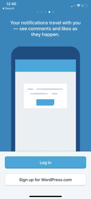Walkthrough on iOs by  Wordpress from UIGarage
