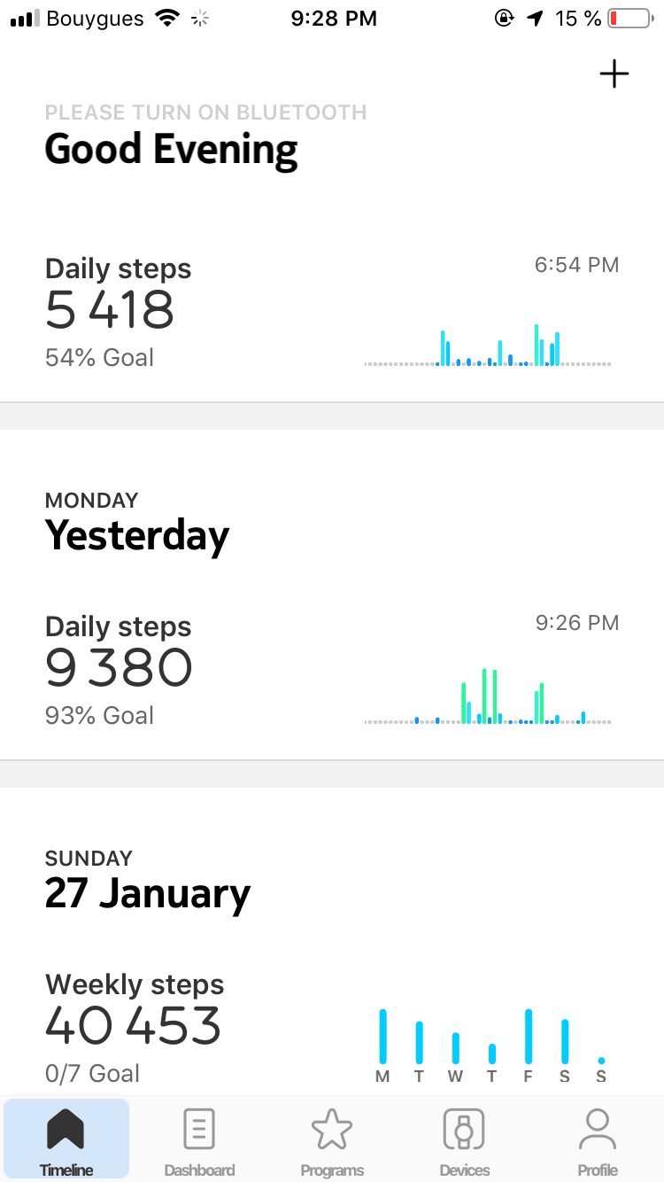 Dashboard on iOS by Health Mate
