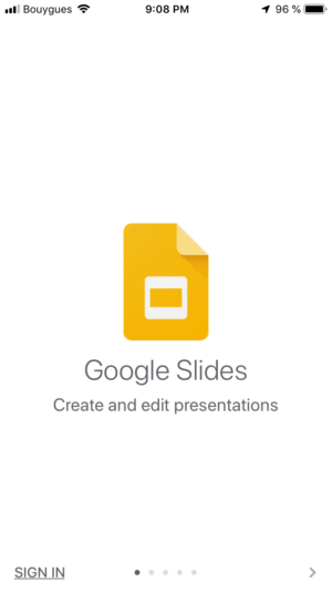 Walkthrough on iOS by Google Slides from UIGarage