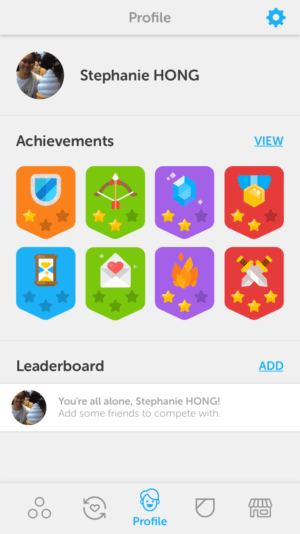 Leaderboard on iOS by Duoligo from UIGarage