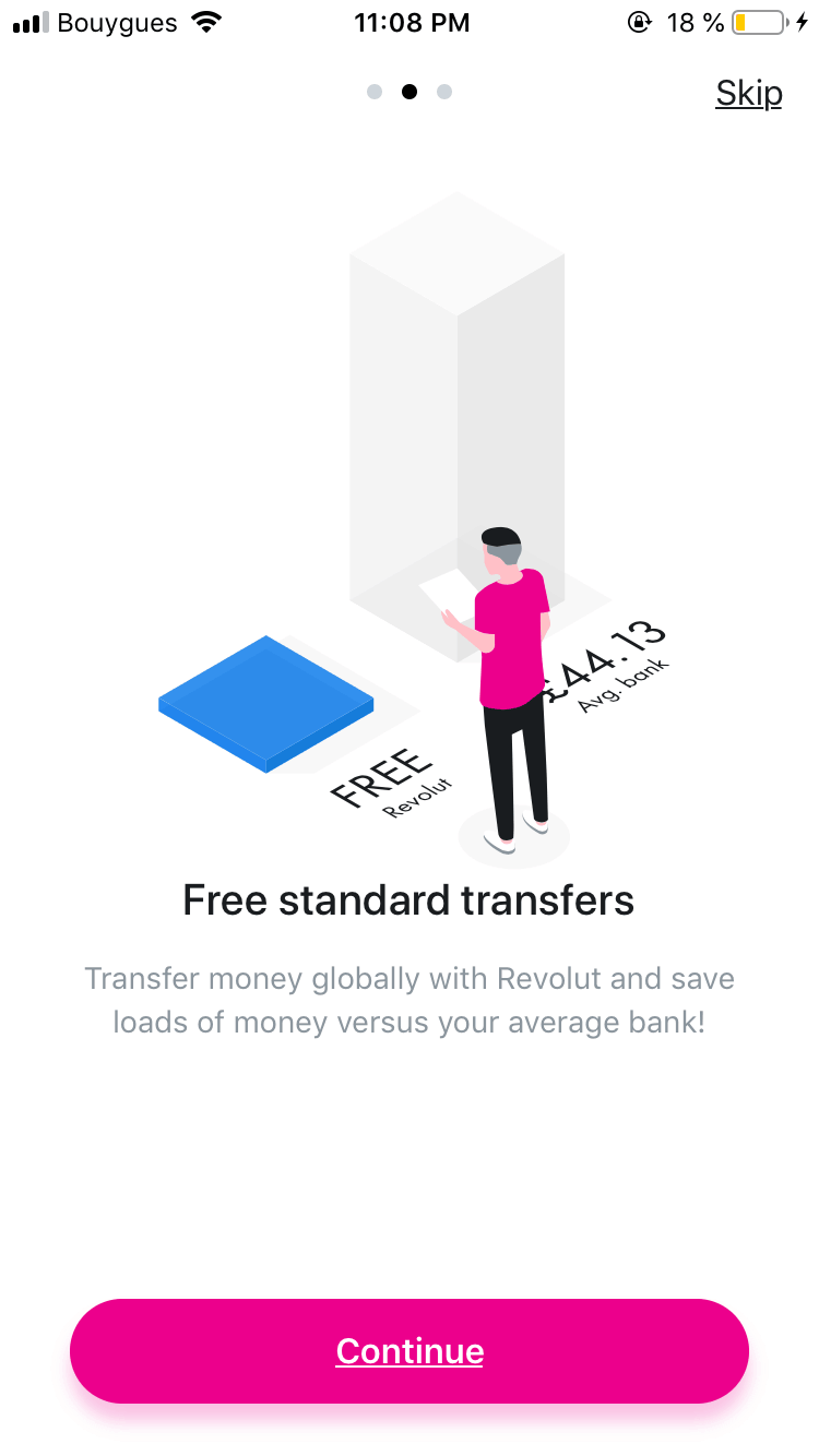 Walkthrough on iOS by Revolut from UIGarage