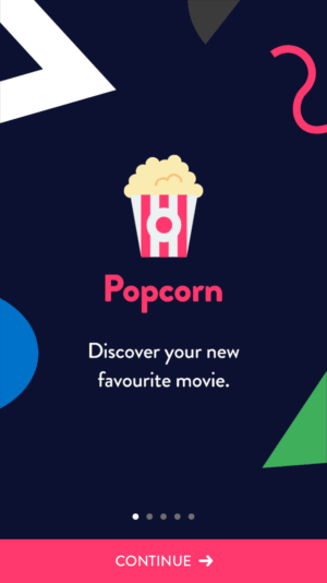 Animated Onboarding iOS by Popcorn from UIGarage